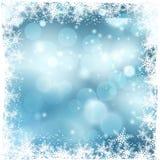 多雪背景的圣诞节 库存照片