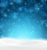 多雪背景的圣诞节 向量例证