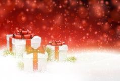 多雪背景的圣诞节 皇族释放例证