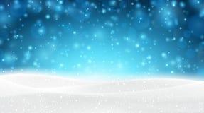 多雪背景的圣诞节 库存例证