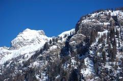 多雪阿尔卑斯意大利的峰顶 库存图片