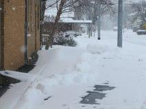 更多雪 免版税库存照片