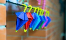 多颜色伞origami 免版税库存图片