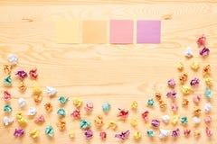 多颜色棍子电灯泡想法概念 库存照片