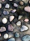 多颜色河岩石 库存图片