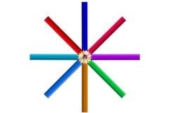 多颜色铅笔 免版税库存照片