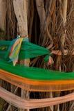 多颜色织品,人信仰在泰国 免版税库存照片