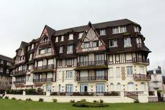 多维尔市在诺曼底,法国 免版税图库摄影
