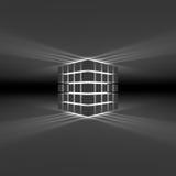 多维数据集发光 图库摄影