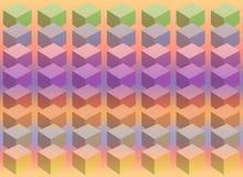 多维数据集柔和的淡色彩 免版税库存照片