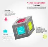 多维数据集infographics 免版税库存图片