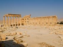 多贝耳寺庙的寺庙,扇叶树头榈,叙利亚 库存照片