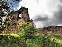 多贝莱城堡废墟 库存照片