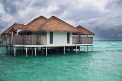 多暴风雨的天气在马尔代夫 免版税库存图片