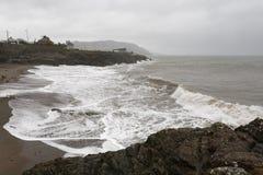 多暴风雨的天气在Greystones 库存图片