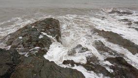 多暴风雨的天气在Greystones 免版税库存图片