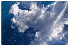 多暴风雨的天气 免版税库存图片
