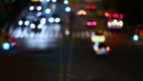 夜交叉路 慢的行动 股票录像