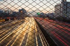 夜交通在北京 库存照片