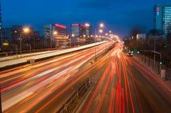 夜交通在北京 库存图片