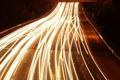 夜交通 图库摄影