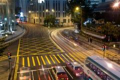 夜交通 免版税图库摄影
