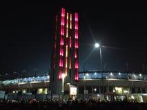 夜体育比赛在都灵 免版税库存照片