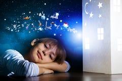 夜作梦 免版税库存照片