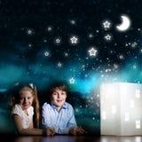夜作梦 免版税图库摄影