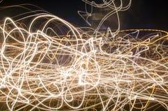 夜光抽象背景在街道,长的曝光射击上的 库存图片