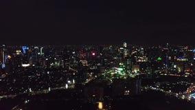 夜光空中英尺长度在雅加达 股票录像