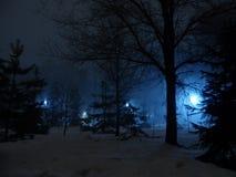 夜公园在阿尔玛蒂 库存图片