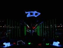 夜动物园氖 库存照片