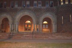 夜哈佛在波士顿, 2016年12月11日的美国 图库摄影