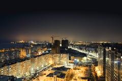 夜哈巴罗夫斯克的光 免版税图库摄影