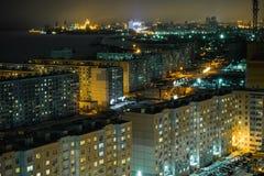 夜哈巴罗夫斯克睡觉地区  库存照片