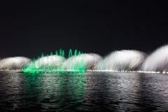 夜喷泉 库存照片