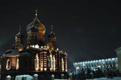 夜图拉 市中心 基督徒寺庙 免版税库存照片