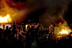 夜圣徒霍安庆祝1 免版税库存图片