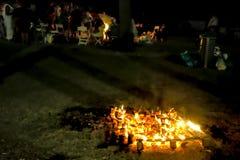 夜圣徒霍安庆祝2 免版税库存照片