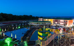 夜在一家五星旅馆里在Kranevo,保加利亚 免版税库存图片