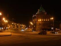夜在下诺夫哥罗德 库存图片