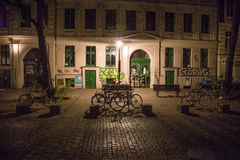 夜在克罗伊茨贝格 图库摄影