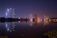 夜在加尔各答 免版税库存照片