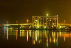 夜在南部的城市 免版税库存图片