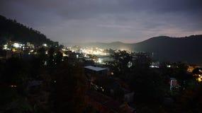 夜在博克拉 库存照片