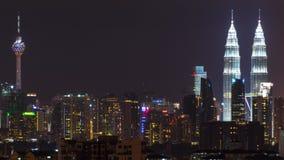 夜在吉隆坡,马来西亚 免版税库存图片