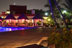 夜在墨西哥旅馆,墨西哥里 免版税图库摄影