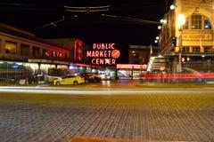 夜在市场上 图库摄影