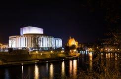 夜在市比得哥什,波兰 免版税图库摄影